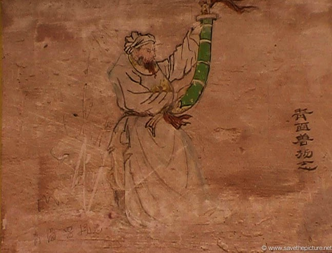 China Shaolin Dharma hall paintings 18