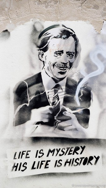 Vaclav Havel smoking