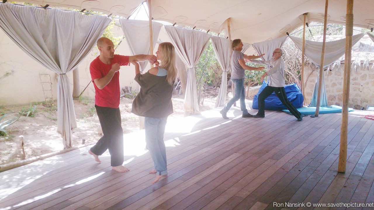 ibiza retreat natural tuning april Taikiken basic training in the open air dojo
