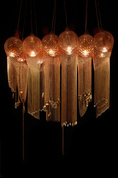 Lifestyle, Robert Nollet, sensual light objects, Copper lamp 9 - A