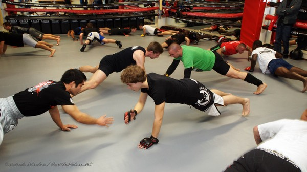 MMA training, warming up 2