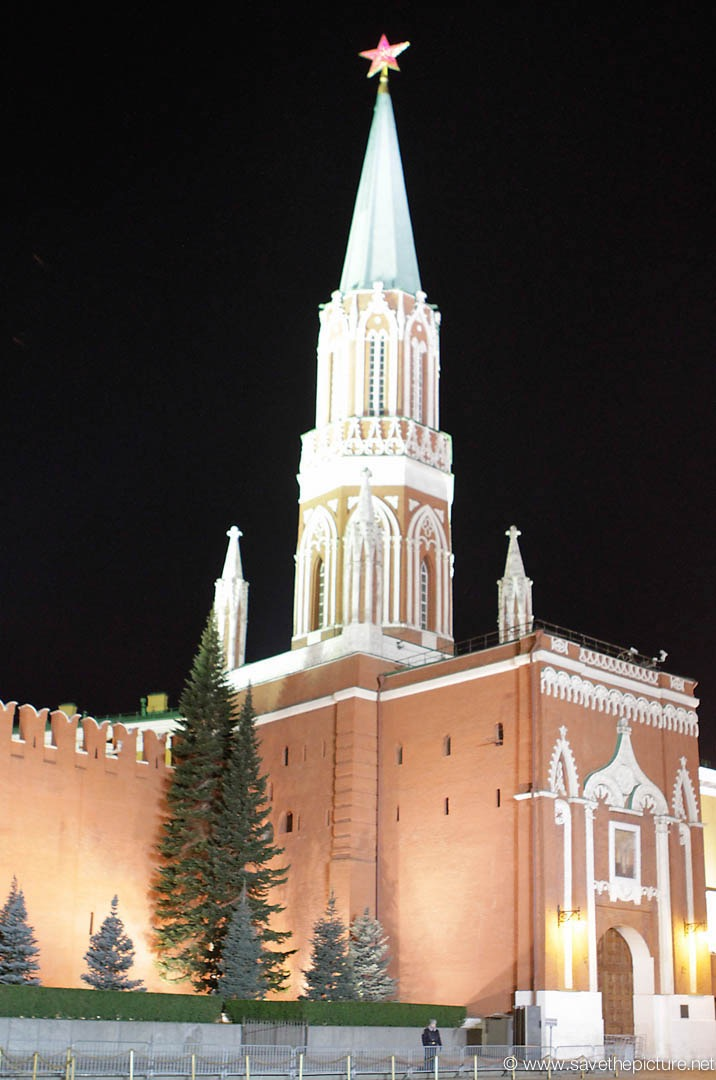 Moscow red square Kremlin night