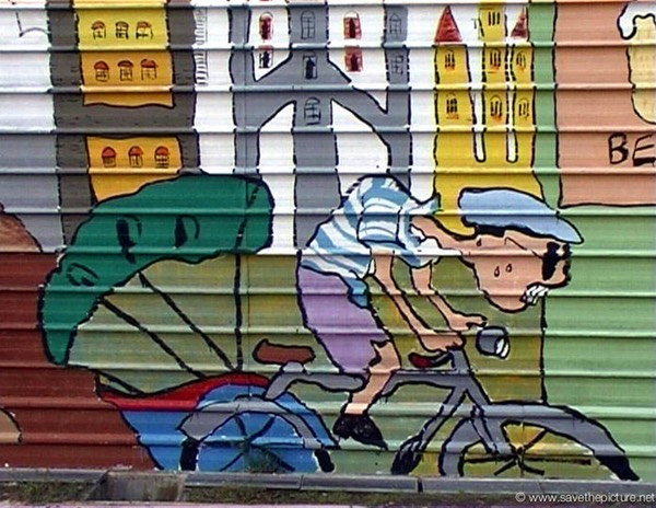 Singapore graffiti tour de france