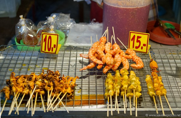 Fried squid, shrimps and chicken sticks