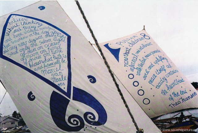 Sri Lanka catamaran art and poetry, Marcel van Maele en Theo Fransen