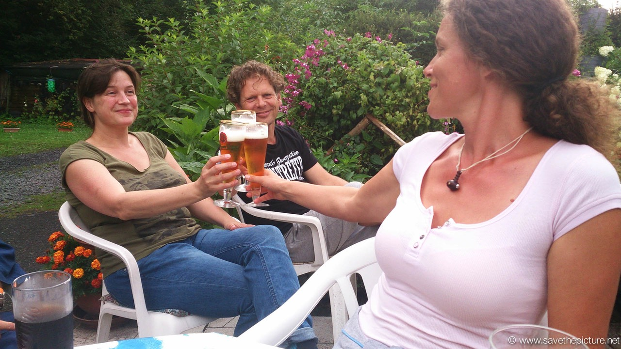 Taikiken Czech workshop 2014, a well deserved pivo after s day training!
