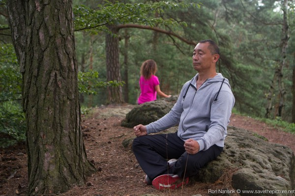 Taikiken Natural Tuning 2016, early morning Wuji style sitting meditation