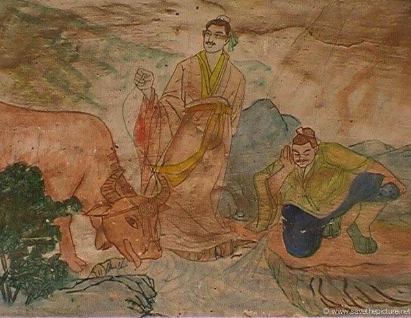 China Shaolin Dharma hall paintings 5
