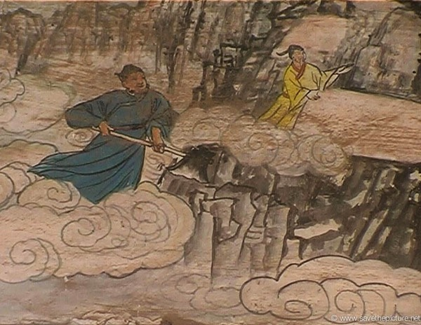 China Shaolin Dharma hall paintings 8