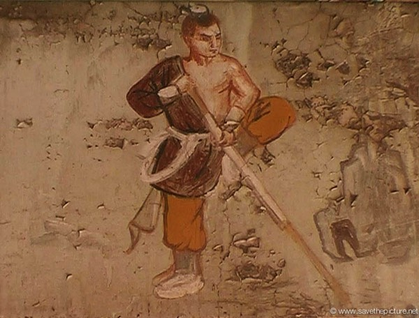 China Shaolin Dharma hall paintings 16