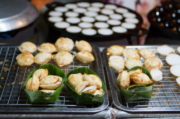 Thai speciality little rice cakes