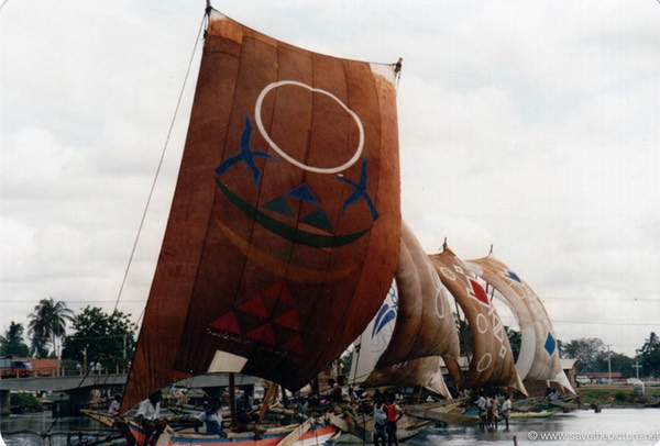 Sri Lanka catamaran art, sellection of sails